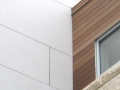 University of Wisconsin Hillel Fiber Cement Termination into Wood Siding